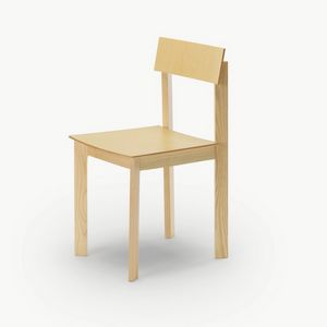 Candid, Wooden chair with a refined design