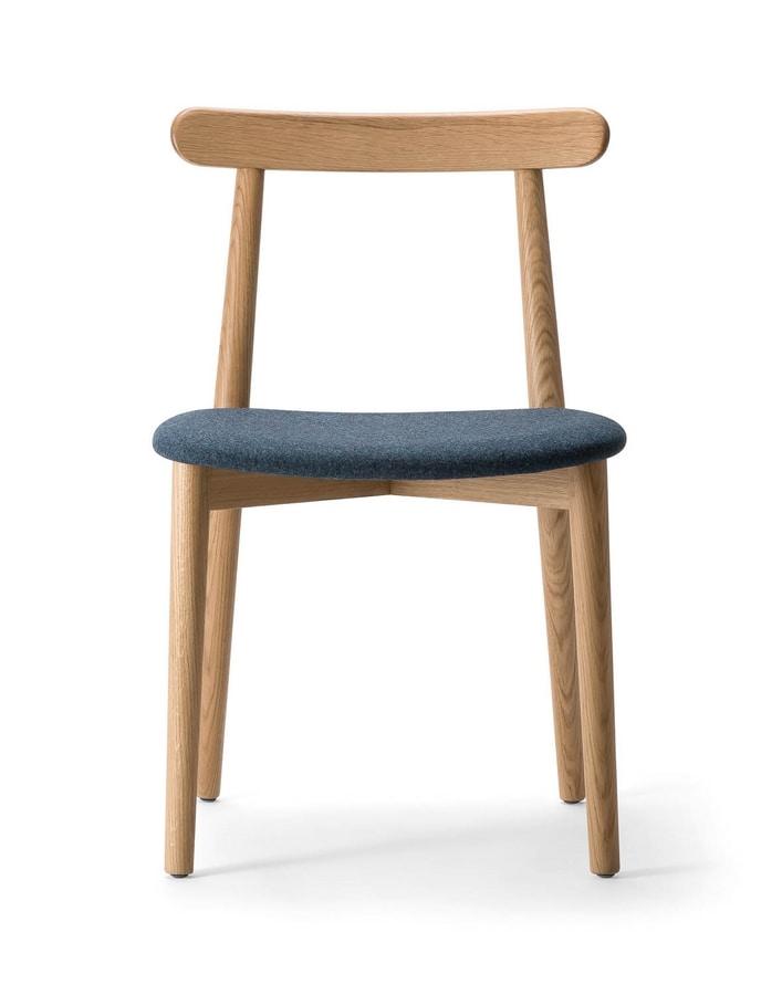 ELISSA 026 S, Scandinavian design wooden chair