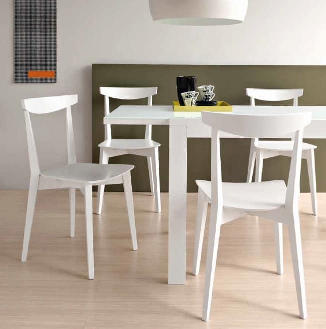Eva, Wooden chair for kitchen
