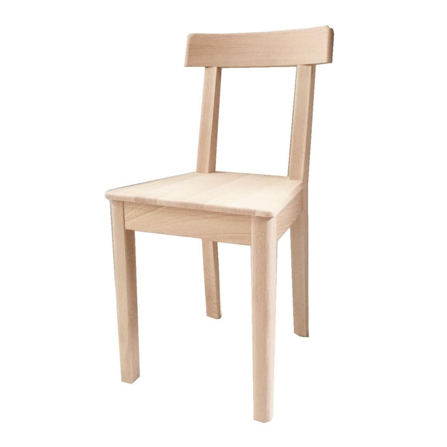 Gisella, Robust chair made of beech wood