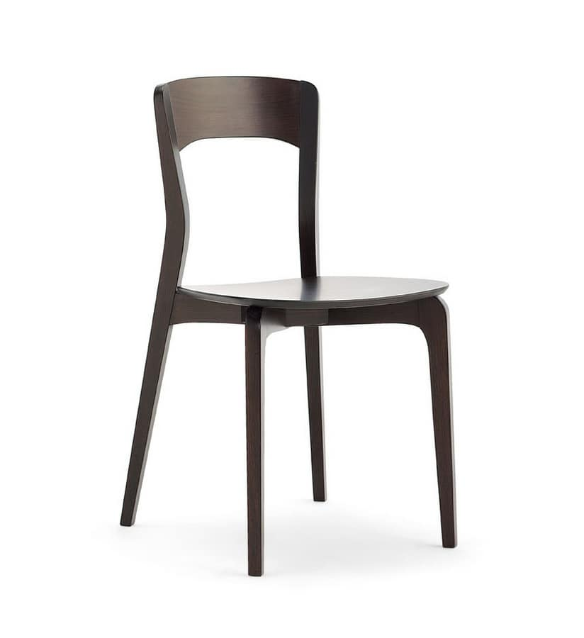 ISOTTA wood, Chair in ash wood, plywood seat