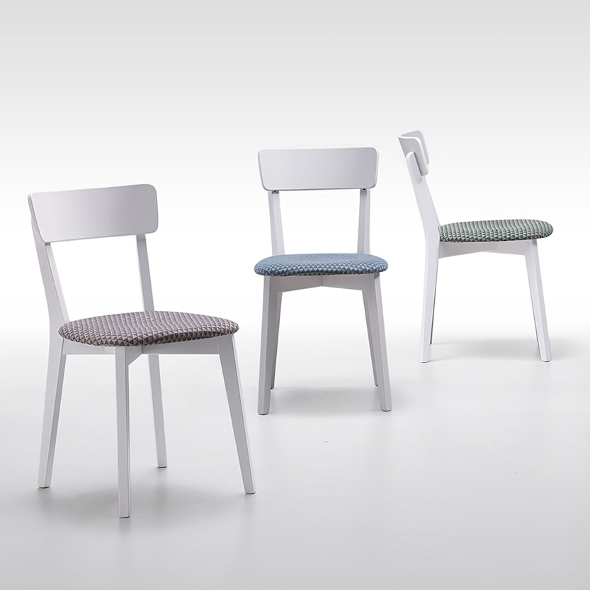 Joy, Wooden chair with a young design