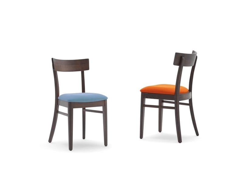 Karen-S, Chair for restaurant with upholstered seat