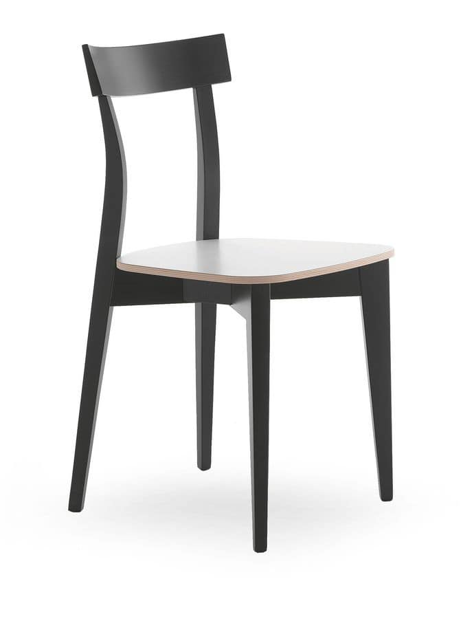 Lola, Chair in beech wood for restaurants and bars