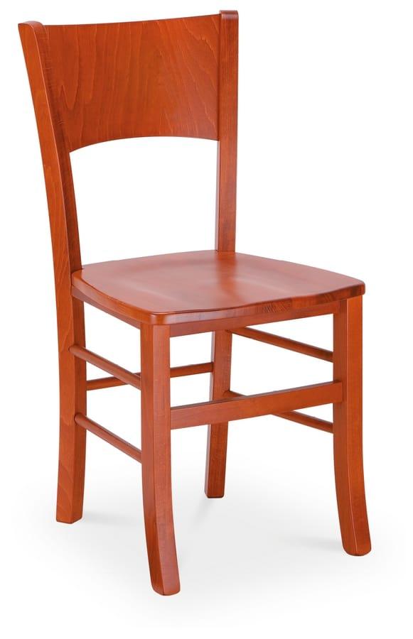 LUNA, Modern chair in painted wood