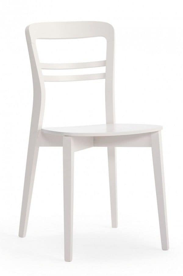 M24, Chair made entirely of wood, in a modern style, for contract use