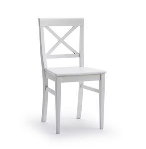 MILADY, Chair with cross backrest, in ash wood