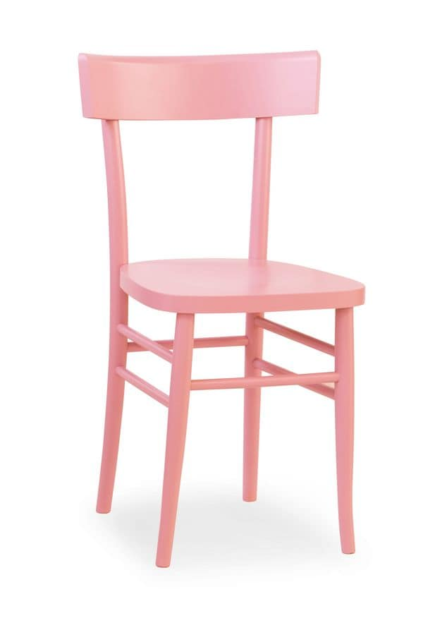 Milano, Chair in beech wood, in various colors