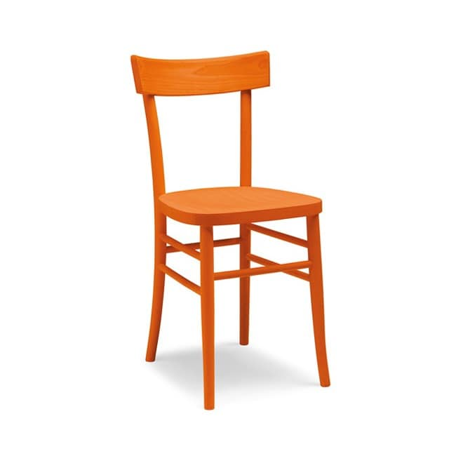 Milano fuselli, Chair with simple line, entirely of wood, different colors