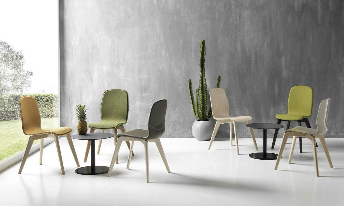 Milù Wood, Wooden chair, with a clean design