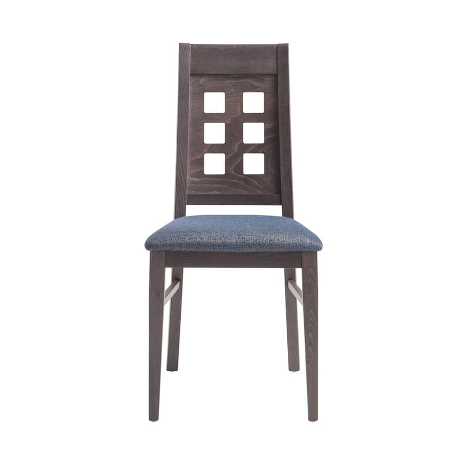 MP490B, Chair with perforated wooden backrest