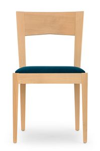 Nico, Wooden chair for dining room and bar