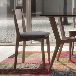 Nova NOVA1330TA, Wooden chair with eco-leather seat