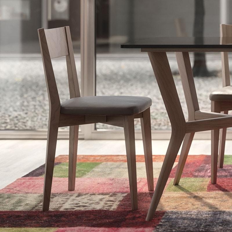 Nova NOVA1330TA, Wooden chair with eco-leather seat