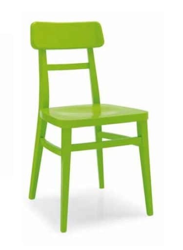Padana, Wooden chair, lacquered or natural