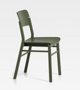 Pop, Wooden chair with clean lines