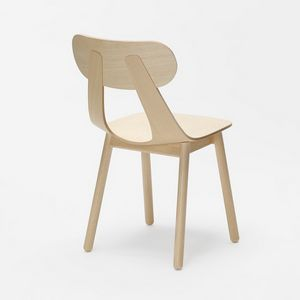 Rapa SW, Modern chair with solid wood leg