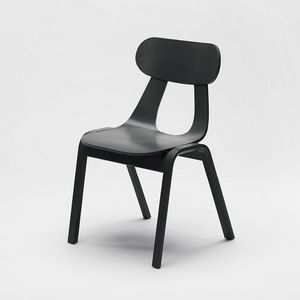 Rapa Wood, Modern chair in wood, stackable