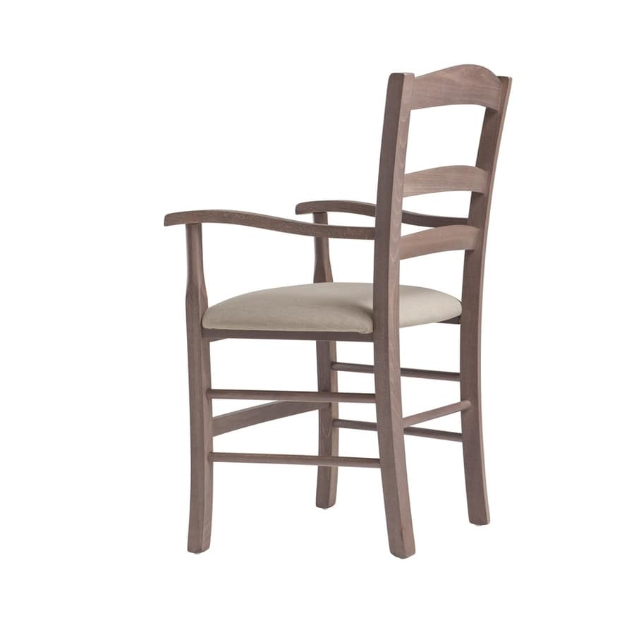 RP42AP, Wooden chair with armrests