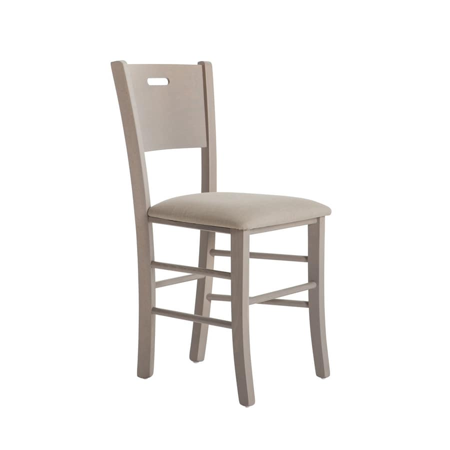 RP481C, Chair in beech wood with customizable seat