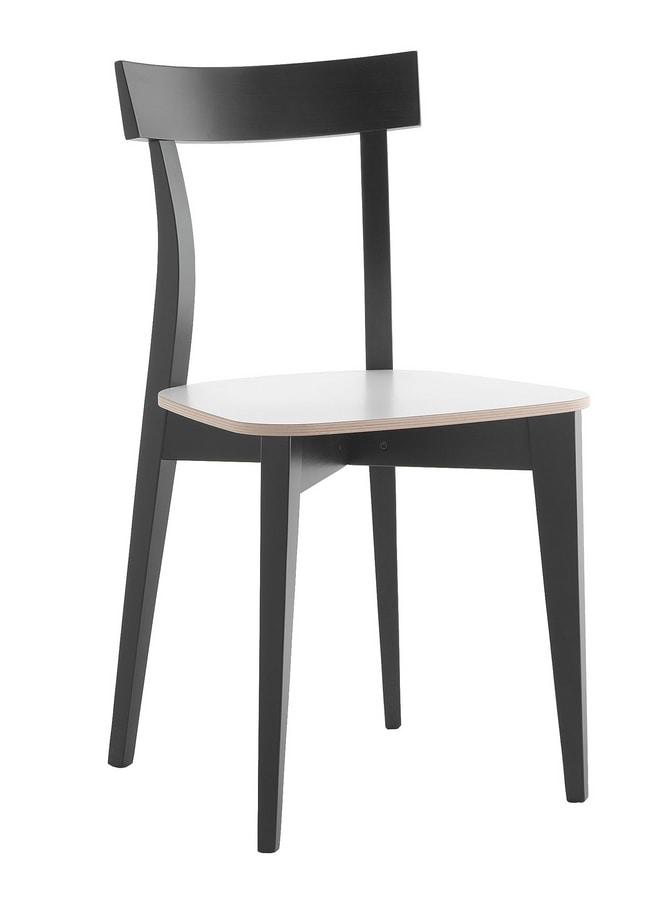 Sami, Wooden chair for kitchen