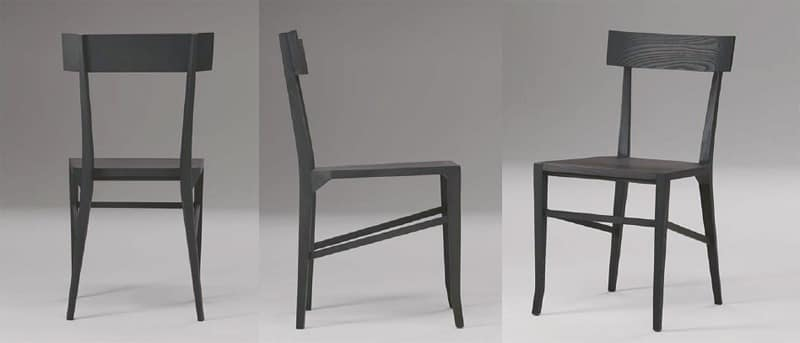 Santorini, Dining chair made of wood, for restaurants