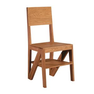Scala 5268/F, Wooden chair convertible to stepladder