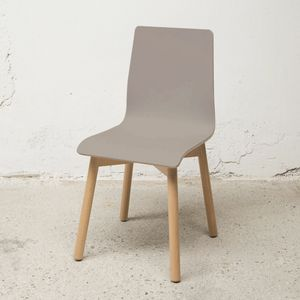 Sedia Bolz, Chair with shell in FENIX laminate