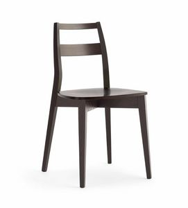TRIS wood, Resistant wooden chair, with plywood seat