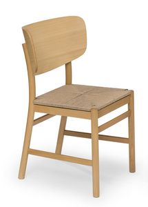 Viky straw, Wooden chair with straw seat