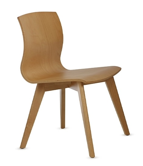 WEBWOOD 357, Chair entirely in beech wood