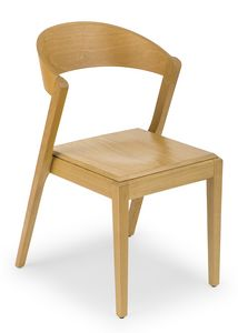 Zanna wood, Chair entirely made in wood
