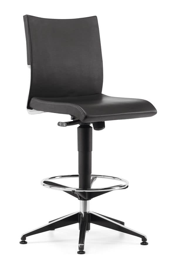 AVIA 4150, High stool for professional office, with footstools