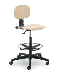 UF 424 stool, Stool on wheels, adjustable in height