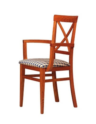 311 P, Chair with arms and wooden back, for pubs