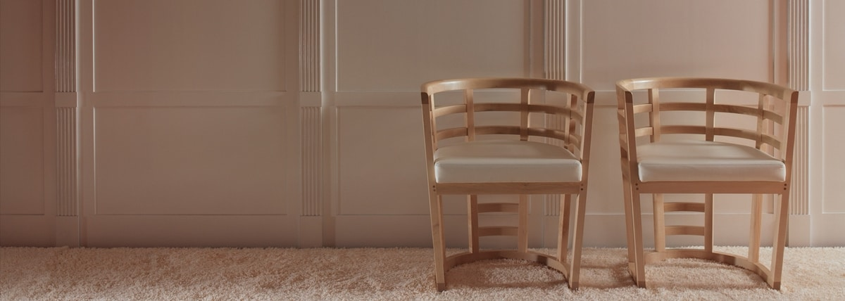 Cartesia 3881/A, Chair in curved maple wood
