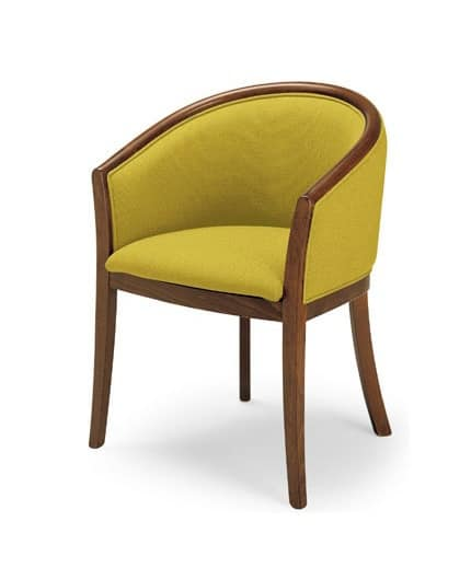 355, Wooden chair with padded hips