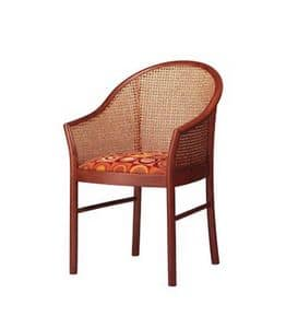 404, Elegant beech wood chair, back in cane
