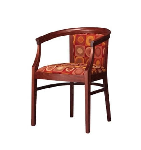 430, Armchair in beechwood, stylish and sturdy, padded