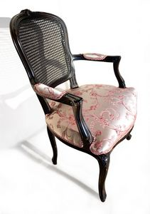 Art. 1430/CB carved armchair, Outlet armchair with Vienna straw backrest