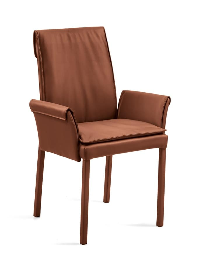 Borsona, Armchair with base with 4 races, for waiting rooms
