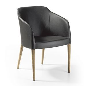 Brigitte pl wood, Armchair for waiting area and relaxation