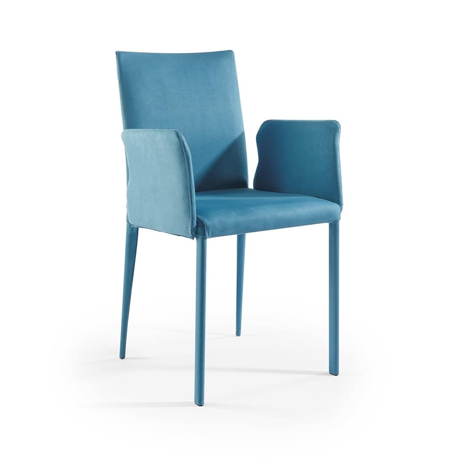 Jury low BR, Modern chair with fabric covering and armrests