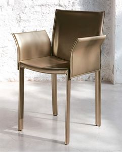 Malindi, Small armchair in real leather