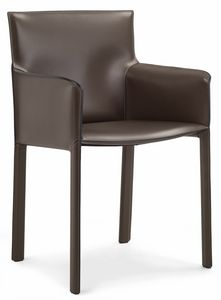 Pasqualina armchair 10.0090, Small armchair covered in leather