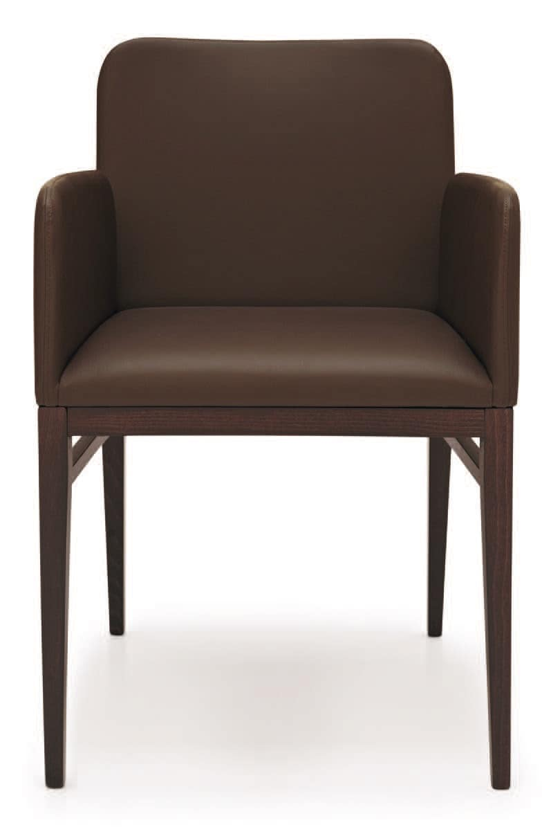 PL 1649, Upholstered armchair in wood, for residential and contract use