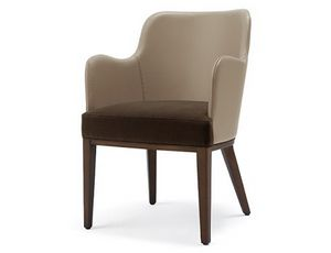 Tina-P3, Armchair in leather or fabric