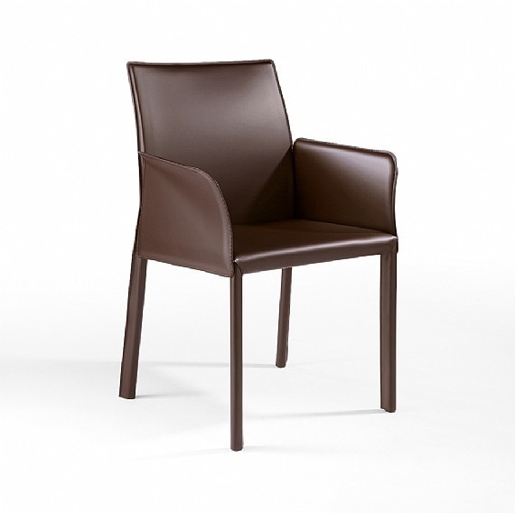 XL BR, Armchair with leather covering suitable for bars