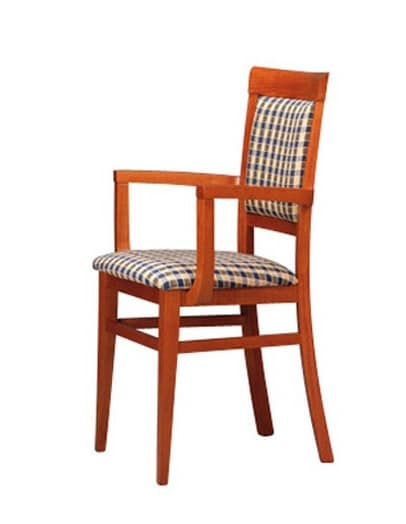313 P, Armchair in beechwood for bars and pizzerias