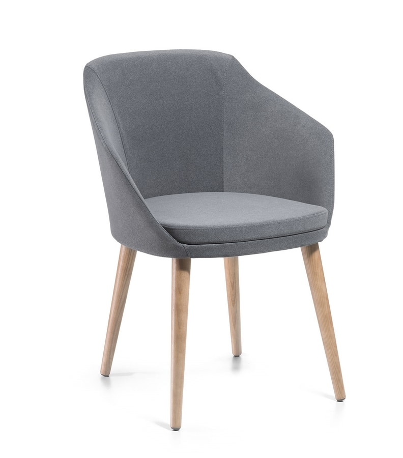 Adele PL, Small armchair upholstered in fabric